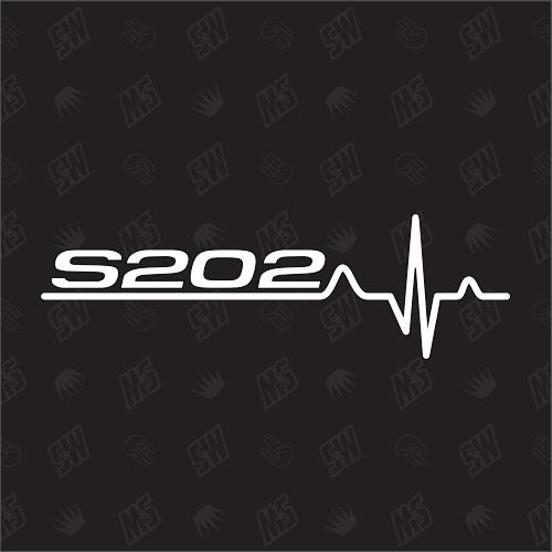 S202 Herzschlag - Sticker kompatibel mit Mercedes Benz