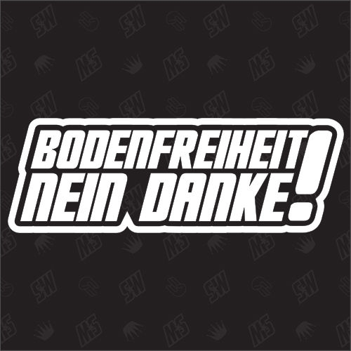 Bodenfreiheit - NEIN Danke - Sticker