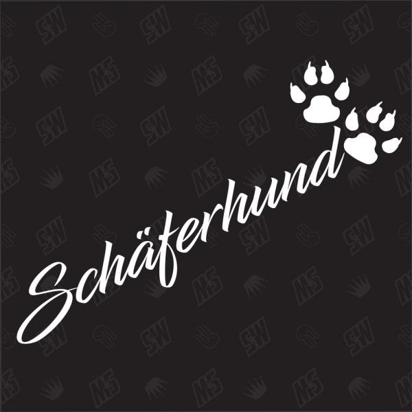Schäferhund - Sticker, Hundesticker, Pfoten