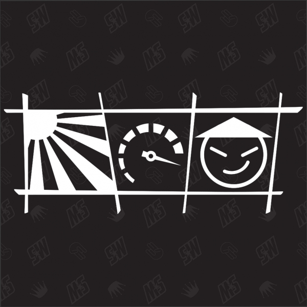 RedSun + Drehzahl + Smilie - Sticker