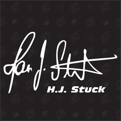 H.J. Stuck Autogramm - Sticker