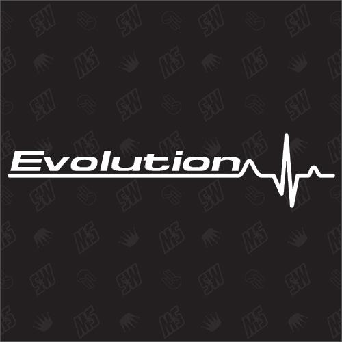 Mitsubishi Evolution Herzschlag - Sticker