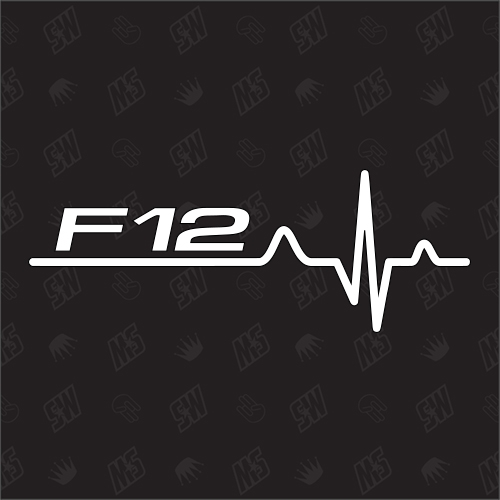 F12 Herzschlag - Sticker, Tuning Fan Aufkleber, BMW