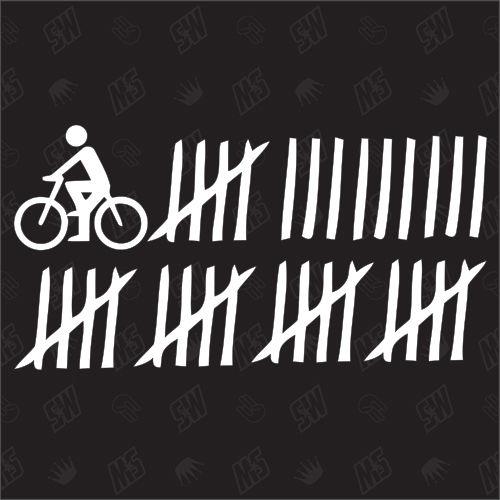 Radfahrer Strichliste - Sticker