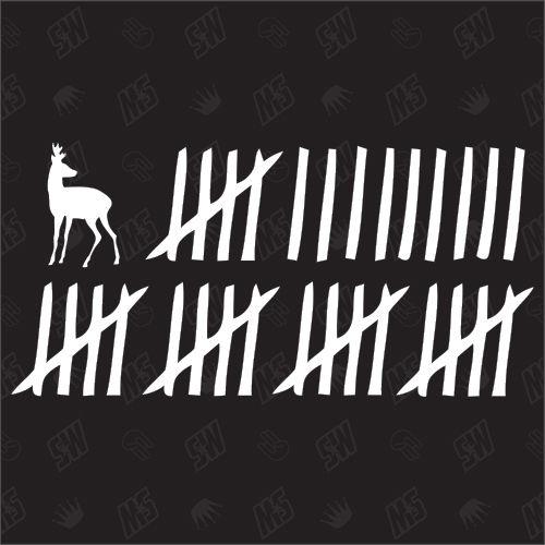 Reh Strichliste - Sticker