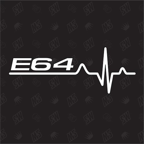 E64 Herzschlag - Sticker, Tuning Fan Aufkleber, BMW
