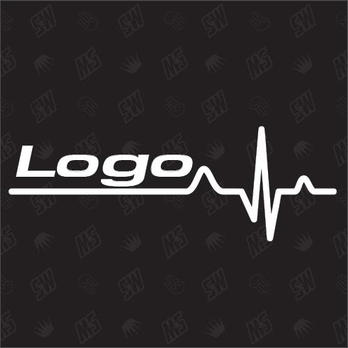 Logo Herzschlag - Sticker kompatibel mit Honda