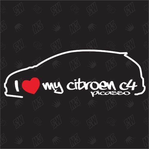 I love my Citroën C4 Picasso - Sticker, Bj 06-13
