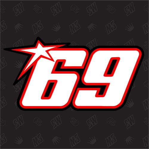 69 - Startnummer Nicky Hayden Moto GP Sticker
