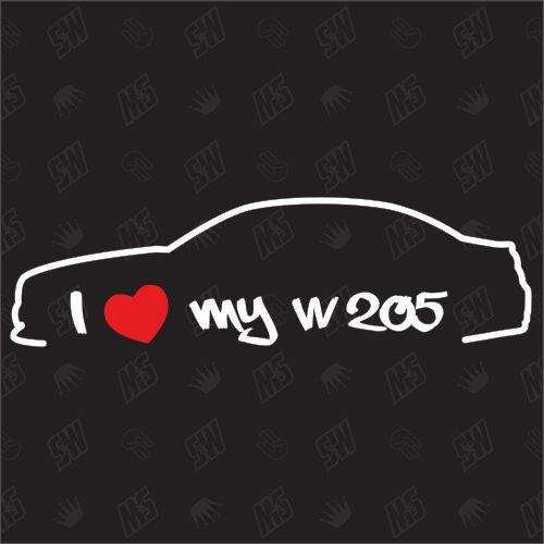 I love my Mercedes W205 - Sticker, ab Bj 14,