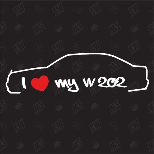 I love my Mercedes W202 - Sticker, Bj 93-95