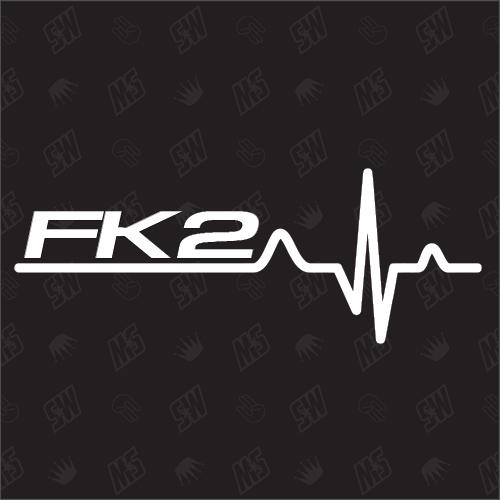 FK2 Herzschlag - Sticker kompatibel mit Honda