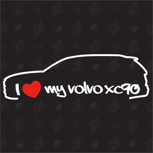 I love my XC90 - Sticker kompatibel mit Volvo - Baujahr 2002