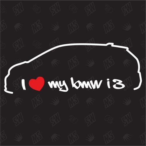 I love my BMW i3 - Sticker, ab Bj.13