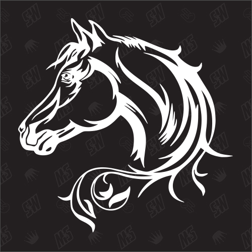 Pferd - Sticker, Kopf