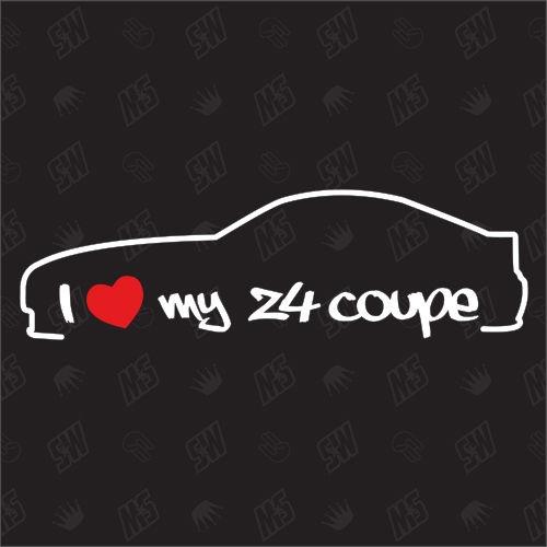 I love my BMW Z4 Coupe - Sticker