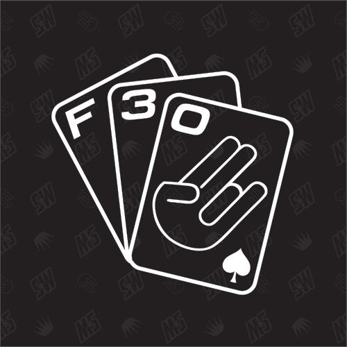 Spielkarten F30 - Sticker