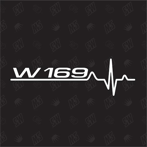 W169 Herzschlag - Sticker kompatibel mit Mercedes Benz
