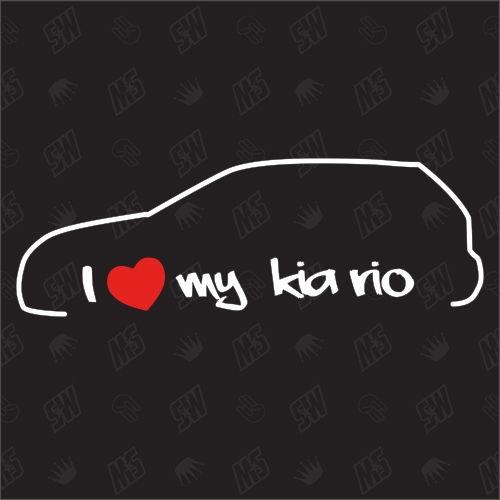 I love my Kia Rio - Sticker, Bj. 99-05