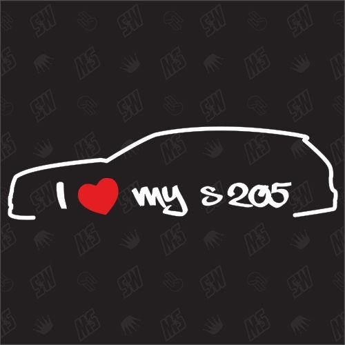 I love my Mercedes S205- Sticker, ab Bj 14