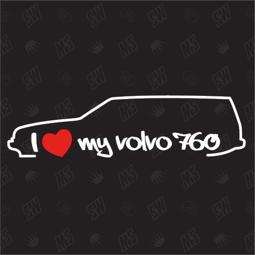 I love my 760 Kombi - Sticker kompatibel mit Volvo - Baujahr 1982 - 1990