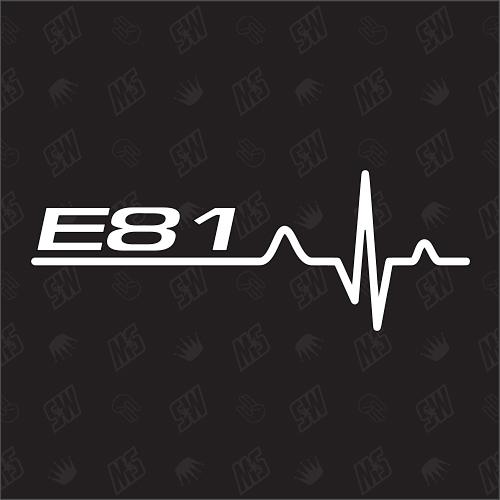 E81 Herzschlag - Sticker, Tuning Fan Aufkleber, BMW