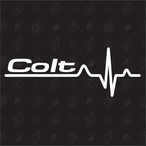 Mitsubishi Colt Herzschlag - Sticker