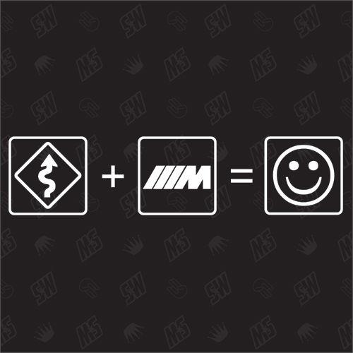 Kurven + BMW M Power = Smile - Sticker