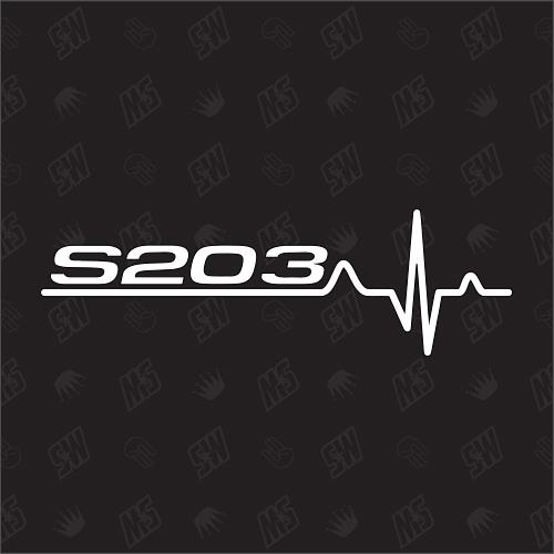 S203 Herzschlag - Sticker kompatibel mit Mercedes Benz