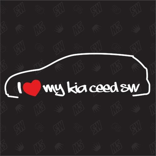 I love my Kia Ceed ED SW - Sticker, Bj. 07-13, Kombi