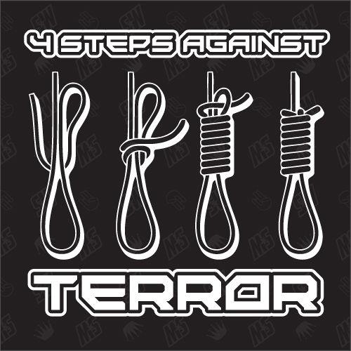 4 Steps against Terror - Freedom Sticker