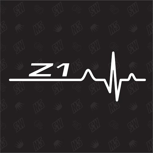 Z1 Herzschlag - Sticker