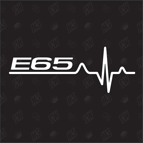 E65 Herzschlag - Sticker, Tuning Fan Aufkleber, BMW