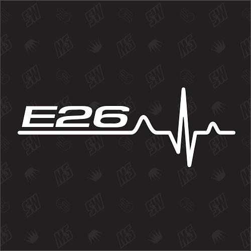 E26 Herzschlag - Sticker, Tuning Fan Aufkleber, BMW