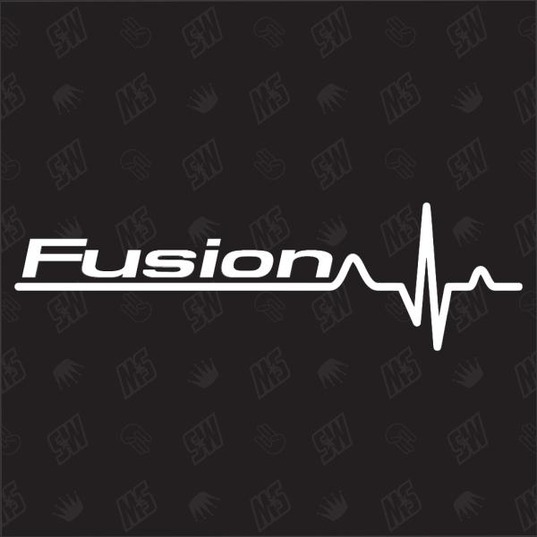 Ford Fusion Herzschlag - Sticker