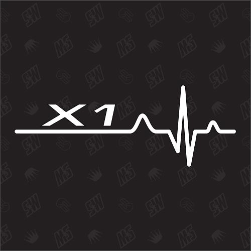 X1 Herzschlag - Sticker