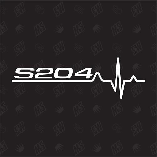 S204 Herzschlag - Sticker kompatibel mit Mercedes Benz
