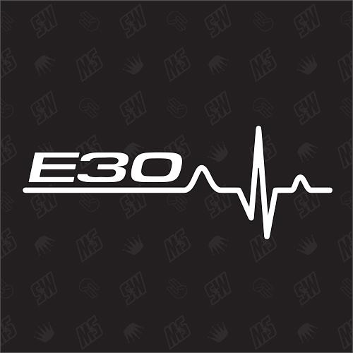 E30 Herzschlag - Sticker, Tuning Fan Aufkleber, BMW