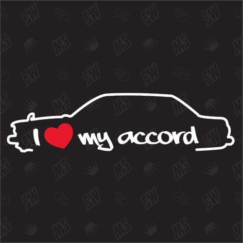 I love my Honda Accord Stufenheck Silouette - Sticker BJ 1977-1981