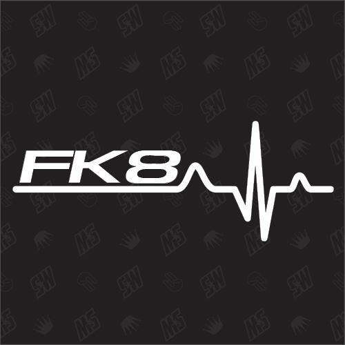 FK8 Herzschlag - Sticker kompatibel mit Honda