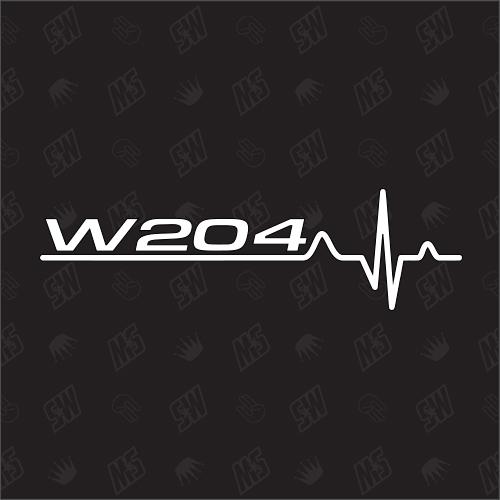 W204 Herzschlag - Sticker kompatibel mit Mercedes Benz