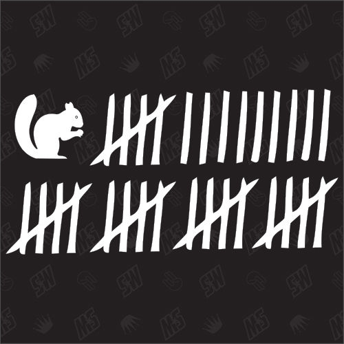 Eichhörnchen Strichliste - Sticker