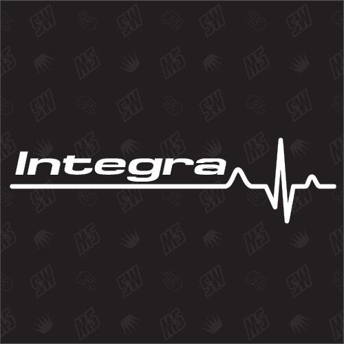 Integra Herzschlag - Sticker kompatibel mit Honda
