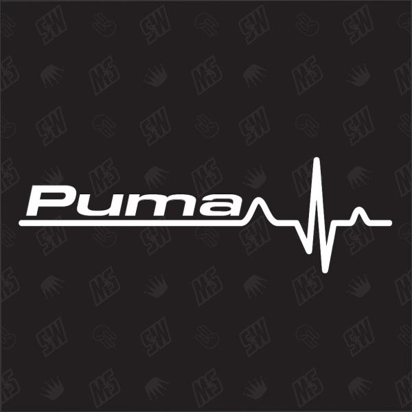 Ford Puma Herzschlag - Sticker