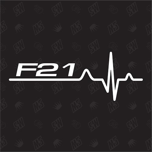 F21 Herzschlag - Sticker, Tuning Fan Aufkleber, BMW